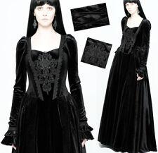 Robe bal motif brocart gothique victorien baroque princesse corset Punkrave Noir