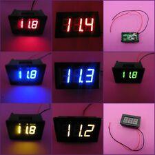 """Voltímetro 0.36"""" o 0.56"""" 7-150 V pantalla LED Digital Medidor de tensión de alambre de 2"""