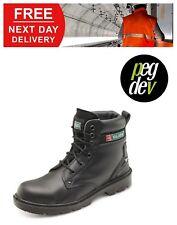 SAFETY FOOTWEAR EYELET BLACK MIDSOLE BOOT SHOE SIZES 6-13 HGCF2BLBS