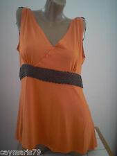 camiseta mujer tirantes naranja talla 44 - 46 - 48 - 50 - 52 - 54 NUEVA ref. 100