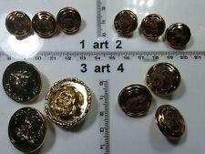 1 lotto bottoni gioiello strass smalti bagno oro buttons boutons vintage g6