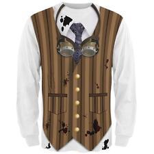 Halloween Steam Punk Engineer Costume All Over Mens Long Sleeve T Shirt