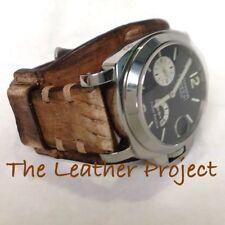 Handmade Natural Calf Vintage Bund Strap Band for Panerai or big watch