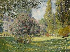 Claude Monet - Landscape The Parc Monceau Vintage Fine Art Print