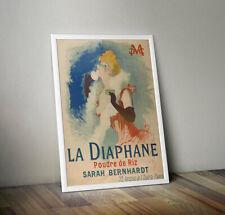 La Diaphane Poudre de Riz by Jules Cheret Framed