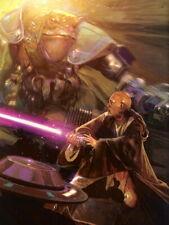 Mace Windu Jedi Lightsaber Fight Star Wars Movie Art Huge Print POSTER Affiche