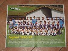 # POSTER CAGLIARI CALCIO 1996/97 INTERA ROSA AL COMPLETO