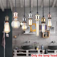 E27 Copper Retro Edison Light Lamp Bulb Holder Socket Shade Rings Cord Grip New