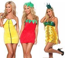 Halloween FANCY FRUIT MINI PARTY DRESS COSTUME BANANA STRAWBERRY PINEAPPLE 8-14