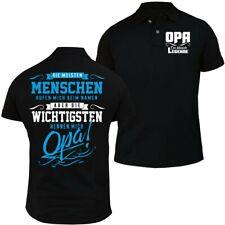 POLO Shirt Die wichtigsten nennen mich OPA Geschenk Geburtstag 60 65 70 75 80 90