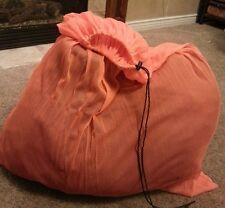 "JUMBO, Orange Mesh Utility,  Laundry Bag. Very Durable, well made 40""x54+"""