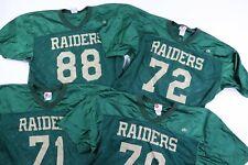 Vtg 90s Rawlings Mens 2Xl Xxl Raiders Mesh Crop Football Jersey Green Halloween