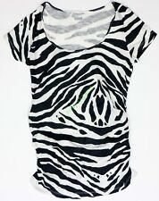 New OLD NAVY Women's Maternity Zebra Scoop Shirt T-Shirt NWOT Size sz XS M L