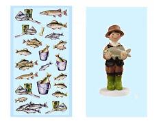 Schulanfang Geburtstag Angler Fische Figur Angeln  Gutschein Fisch Fang Forellen