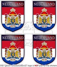 """PAESI BASSI Olandese OLANDA Scudi Adesivi in Vinile per Auto 50mm 2"""" Stickers x4"""