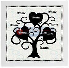 Pegatina de vinilo cabe Ikea Ribba Marco-árbol familiar Pegatina/Corazones añadir nombres