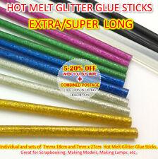 EXTRA LONG Glitter Glue Gun Hot Melt Stick 18cm 27cm Coloured adhesive non-toxic