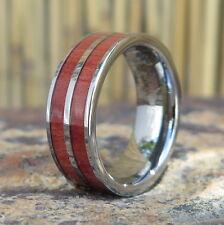 Men's Hawaiian Genuine Pink IV Tungsten Wedding Ring Band 8mm # CRD1001-08