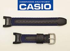 CASIO  Pro Trek Watch Band FISHING GEAR BLACK & NAVY BLUE STRAP PRS-400B