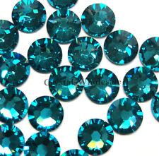 Blue zircon 229 Cristal Swarovski 2058/2088 34ss flatbacks strass de 7mm ss34
