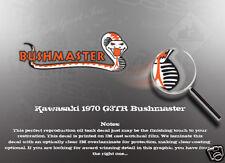 KAWASAKI 1970 G3TR BUSHMASTER DECALS GRAPHICS LIKE NOS