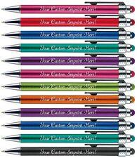 12 Custom Printed bright light pens. Name pens. Personalized pens. Stylus pen