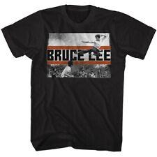 BRUCE LEE FLY KICK BLACK ADULT Short Sleeve T-Shirt