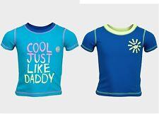 Bebé Niño George ' cool JUST LIKE Papá ' Camisetas Mezcla De Algodón Acanalado