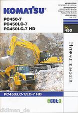 Komatsu pc450-7 pc450lc-7 pc450lc-7 HD escavatori idraulici Prospetto 1 06 Escavatore 2006