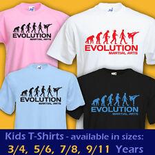 Artes Marciales evolución Taekwondo Kickboxing Deportes divertida camiseta Niños Chicos Chicas