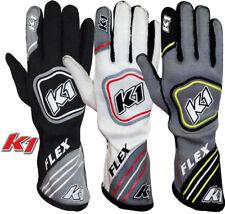 K1 - Flex SFI/FIA Auto Racing Gloves - SFI-5/FIA Rated Fire Driving Nomex Gloves