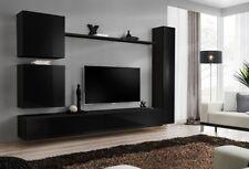 Shift 8 - black modern entertainment center / modern tv wall unit