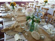 "Burlap Table Runner 14"" x 72"" Wholesale Lots 100% Heavy Natural Jute  Wedding"