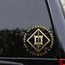 US Army 18th Engineer Brigade Decal Sticker Veteran Truck Car Window Laptop