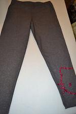 Girls Hello Kitty  Gray  Glittery Leggings Size M 8-10  Nwt