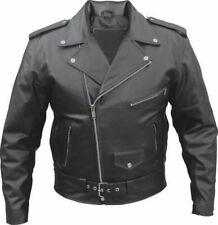 New Mens Genuine Cowhide Leather Brando Perfecto Biker Original Leather Jacket