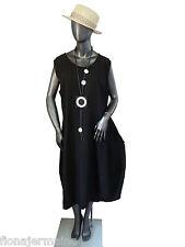 Taille 40-50 robe lin robe robe d'été légère, AEREES Noir Italie Superposé