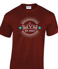 Rock & Roll T-Shirt And Rocker Greaser 50's Fifties Rockabilly We Trust Original