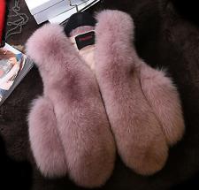 Kids Girls Boys Luxury Fur Furry Coat Vest Sleeveless Slim Jacket Thicken Warm