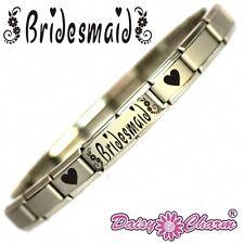 JSC BRIDESMAID Gift with Hearts  Italian Charm Bracelet