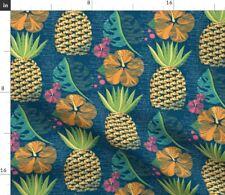 Tropical Pineapple Summer Hawaiian Luau Tiki Fabric Printed by Spoonflower BTY