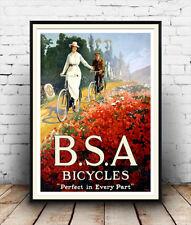 BSA bicicletas: Vintage ciclo de publicidad, cartel, Pared Arte.