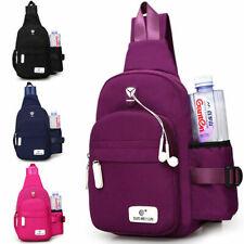 Men Women Nylon Crossbody Shoulder Chest Cycle Sling Bag Daily Travel Backpack