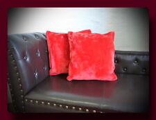 Kissen Kissenhülle Dekokissen im Glanz - Design Farbe rubin rot