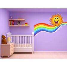 Stickers autocollant chambre d'enfant Soleil Arc en ciel