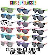 Kids Multi Colours Polarised Wayfarer Style Silicone Shatter proof Sunglasses