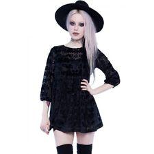 IRON FIST Bat Royalty Dress Ash Costello Velvet Flocked Goth NWT Ladies Womens