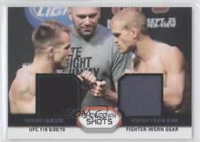 2011 Topps UFC Moment of Truth #SSDR-SD Sean Sherk Evan Dunham MMA Card