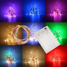 LED Cuerda Luz Cobre Alambre Funciona con Pilas Fiesta de Navidad DIY Fairy Tira