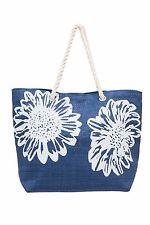 Beach Bag Womens Ladies Large Flower Summer Shoulder Shopper Tote Straw Bags